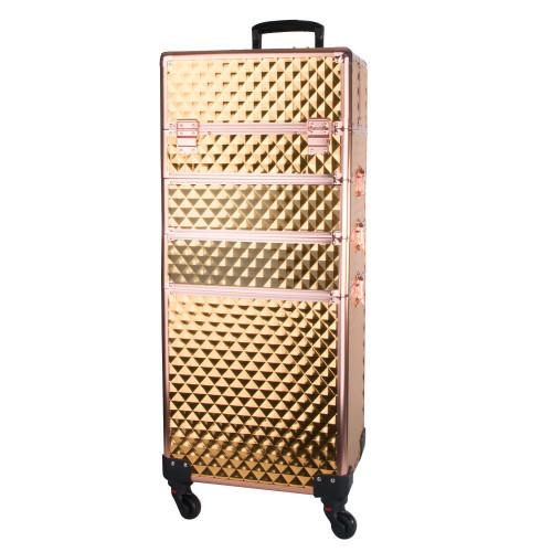 """Kosmetinis lagaminas """"Diamond 3D Gold"""""""
